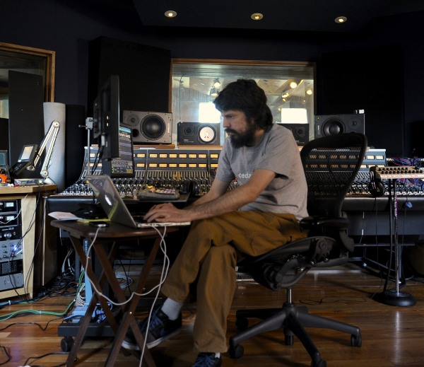 Tommaso Colliva in Brooklyn Recordins Studios NYPhoto by Francesco Balatti