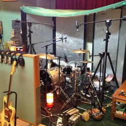 Foals drum recording set-up
