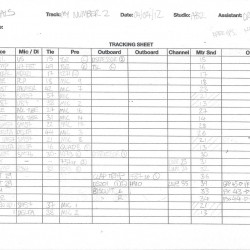 My Number track sheet 1
