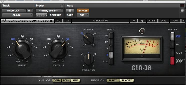 Still Into You drums CLA compressor