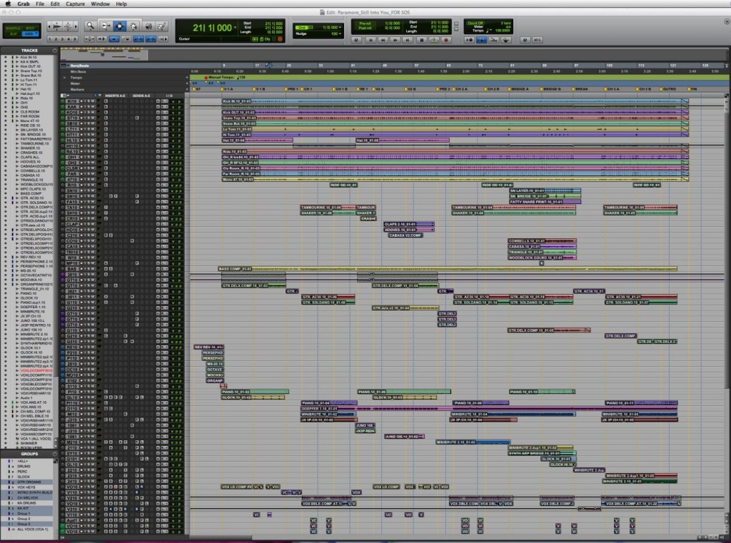 Still Into You mix session edit window 1