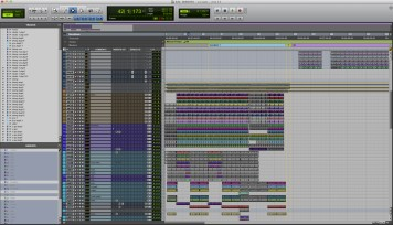 Mirrors pre-stem drums and music Pro Tools session