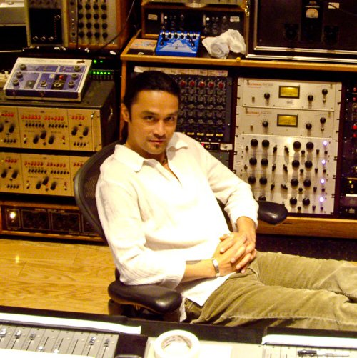 Russell Elevado at Henson studios in Los Angeles