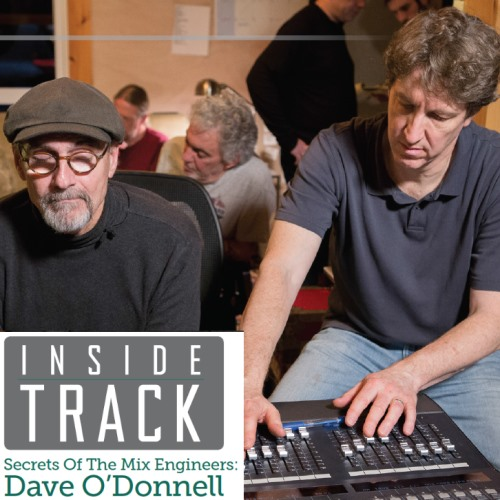 James Taylor and Dave O'Donnell at work