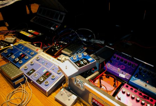 Some of the pedals used...