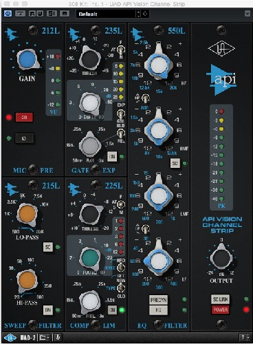 808 Kit UAD API Vision Channel Strip