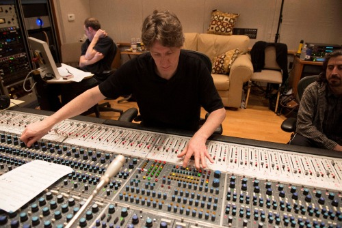 Dave O'Donnell at work in an unidentified studio