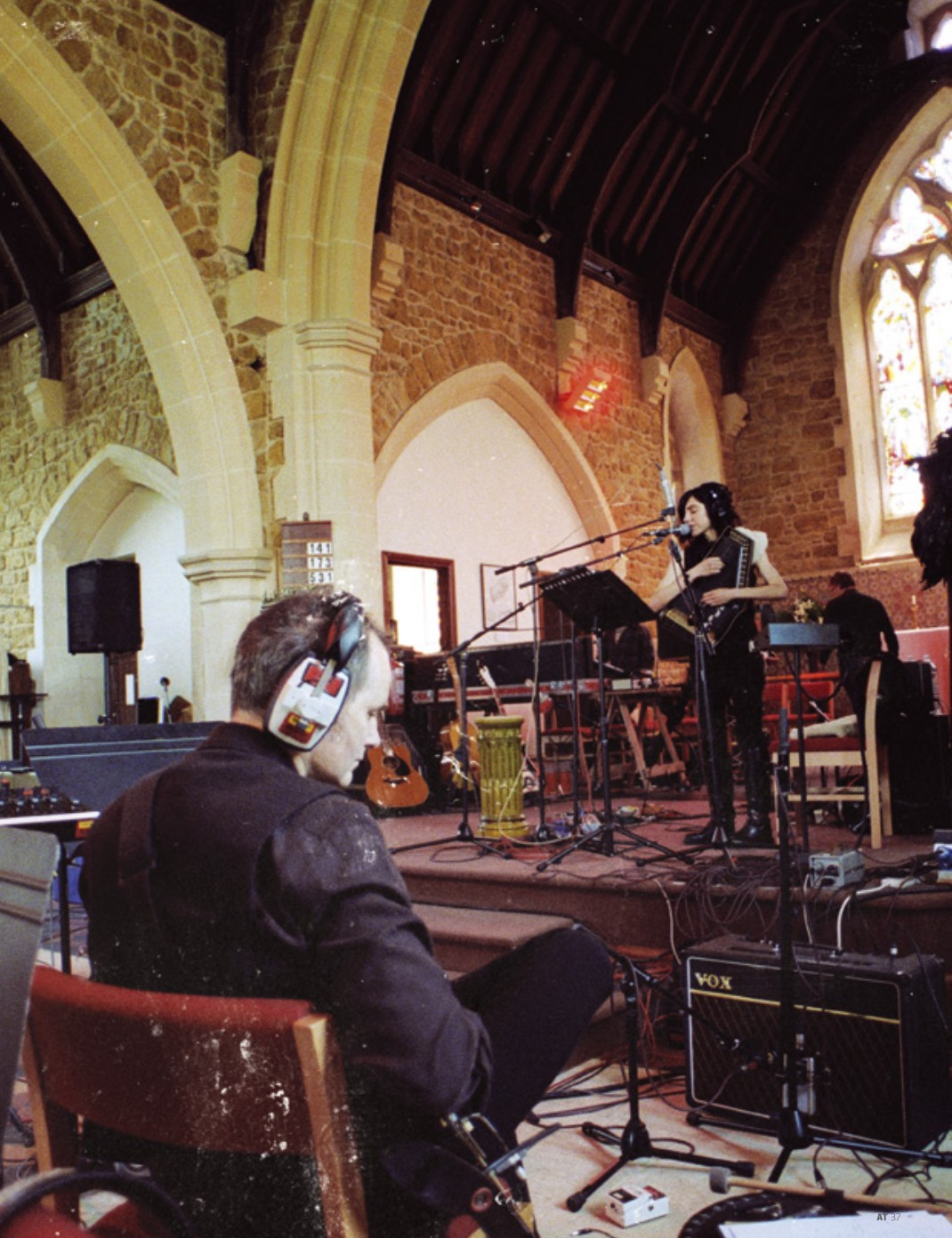 Part two of article, showing John Parish and PJ Harvey at the Dorset church