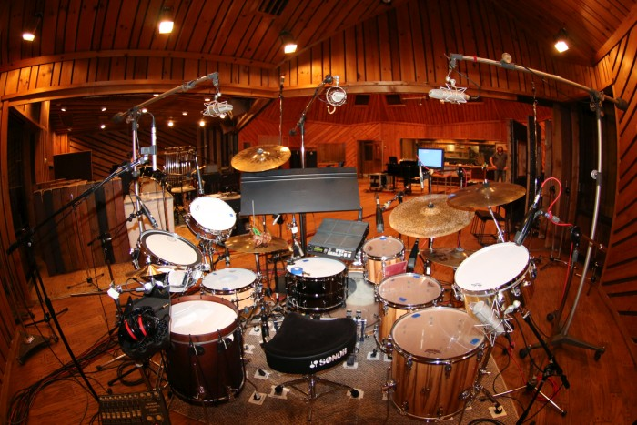 Avatar drum recording setup.