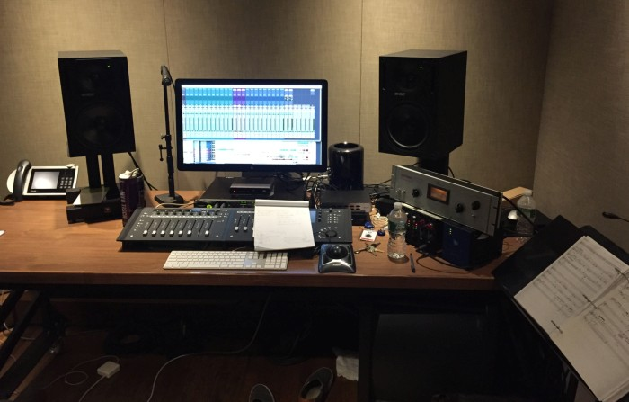 Derik Lee's editing suite at Atlantic during mixing