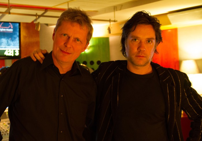 Marius de Vries and Rufus Wainwright at Igloo Studios. Photo by Michael Mendelsohn