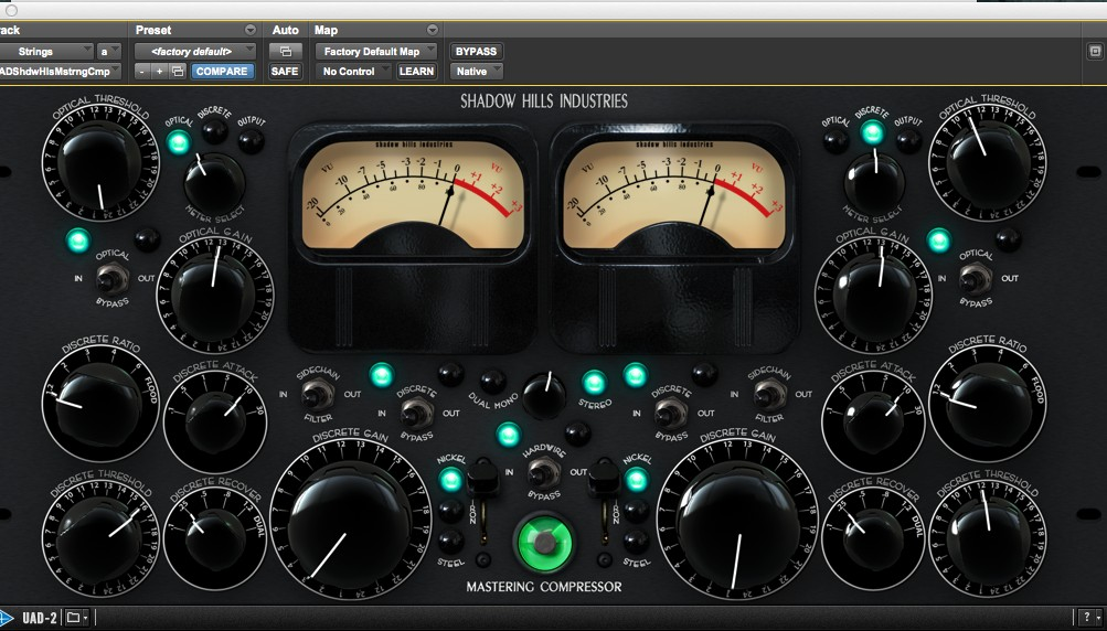 Shadow Hills mastering compressor on strings
