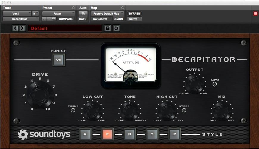 SoundToys Decapitator on vocals