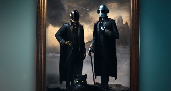 "Daft Punk as they appear in the ""Starboy"" video"